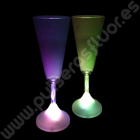 Copa con Luz Champagne