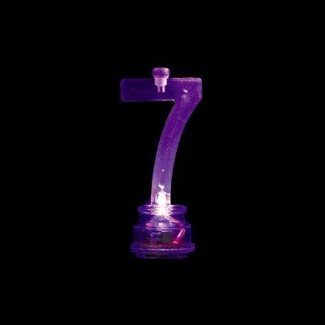 4 Velas y Número 7 Led