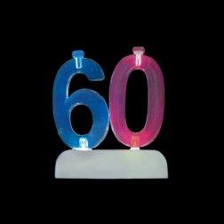 4 Velas y Número 60 Led