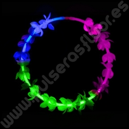 Collares Luminosos Tricolor Flores (12 uds)