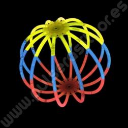 Esferas Fluorescentes Tricolor (8 uds)